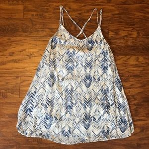 O'Neill Blue and White Print Dress